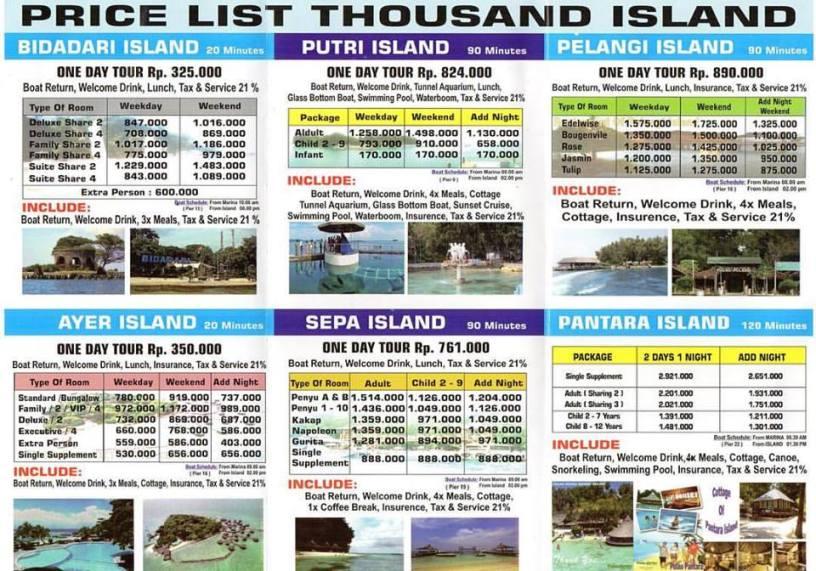 Paket Pulau Seribu Paling Murah Sejakarta Hub 081218187809